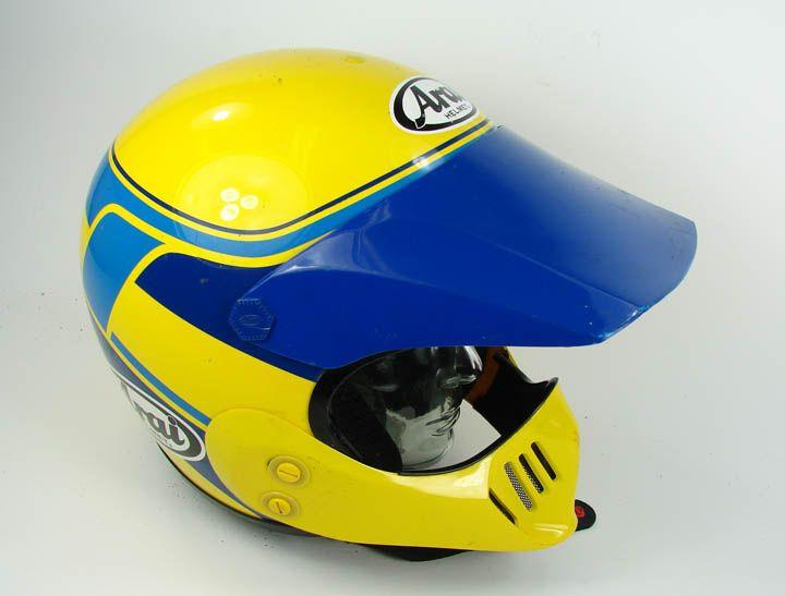 VINTAGE ARAI MX PRO HELMET MOTORCYCLE MOTOCROSS SIZE M MEDIUM BLUE