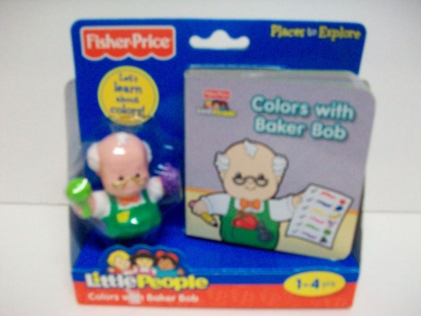 FISHER PRICE COLORS WITH BAKER BOB 1 4 YRS LITTLE PEOPLE AND BOOK