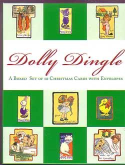 DOLLY DINGLE Boxed Set of 10 Christmas Cards Repros NEW