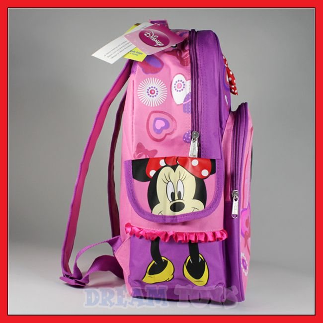 Disney Minnie Mouse Bow 16 Backpack   School Girls Bag
