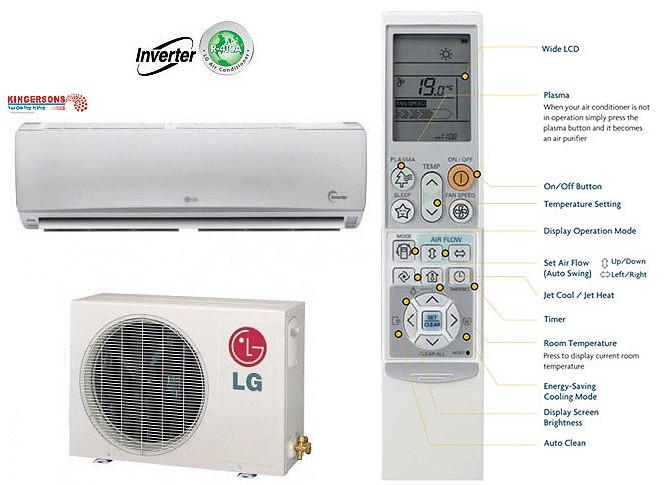 24000 BTU LG Ductless Mini Split Air Conditioner SEER 19 COOL/HEAT