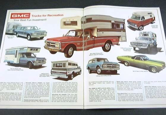 1972 72 GMC TRUCK BROCHURE Sierra Suburban 1500 Pickup