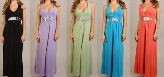 EMPIRE Jersey MAXI DRESS Beach Wedding Party BOHO Bridesmaid Gown PLUS